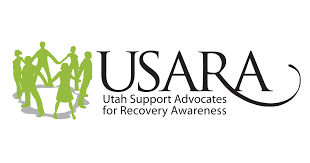 Utah Support Advocates for Recovery Awareness (USARA) logo, sponsor/partner of Switchpoint community resource center