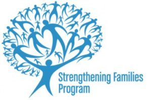 Strengthening families program logo, a free program offered at Switchpoint community resource center